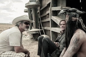 Gore Verbinski on the set of The Lone Ranger
