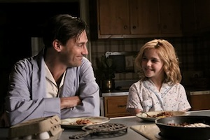 Jon Hamm and Kiernan Shipka on Mad Men