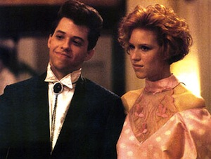 Jon Cryer and Molly Ringwald in Pretty in Pink