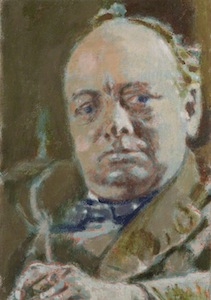 Portrait of Winston Churchill by Walter Richard Sickert