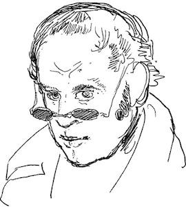 Self-portrait by Rodolphe Töpffer