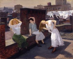 Sunday, Women Drying Their Hair by John Sloan
