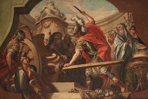Alexander Cutting the Gordian Knot by Fedele Fischetti