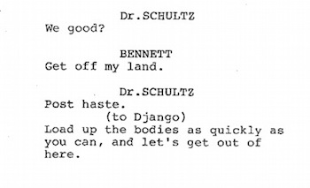 The script of Django Unchained