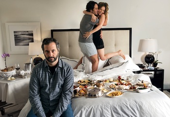 Judd Apatow, Paul Rudd, and Leslie Mann