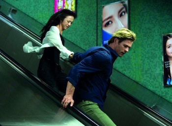Tang Wei and Chris Hemsworth in Blackhat