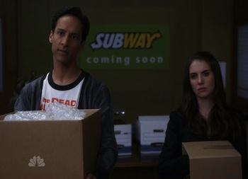 Danny Pudi and Alison Brie on Community