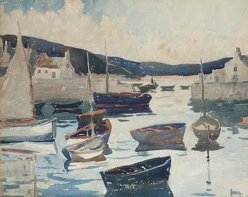 Harbor Scene by George Pearce Ennis