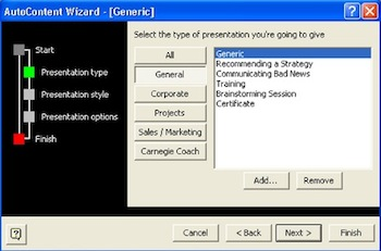 The AutoContent Wizard