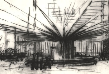 Drawing by Louis I. Kahn