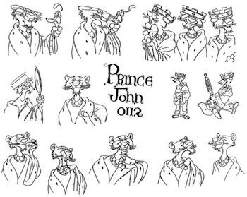 Concept art for Disney's Robin Hood