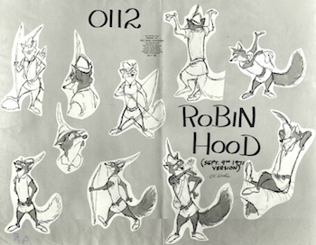 Concept art for Disney's Robin Hood