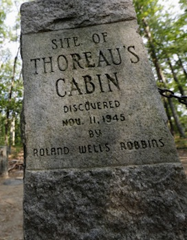 Marker for Thoreau's cabin