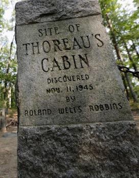 Marker for Thoreau's cabin