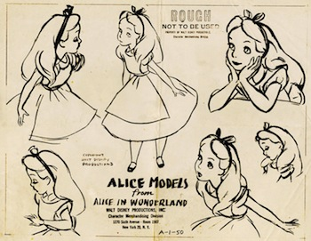 Alice in Wonderland model sheet
