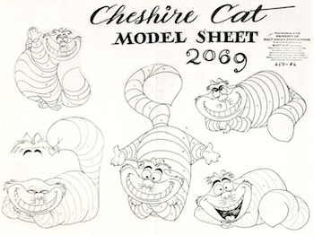 Cheshire Cat model sheet