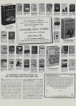 Ad for the Book of the Month Club