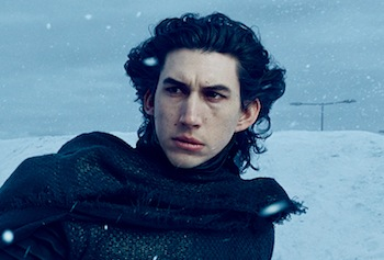 Adam Driver in Star Wars: The Force Awakens