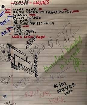 Track listing for Kanye West's Waves