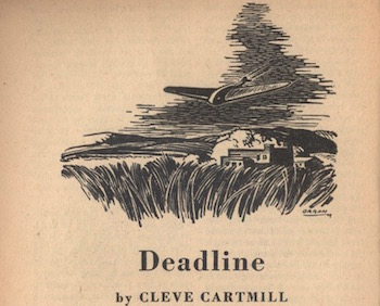 "Illustration by Paul Orban for ""Deadline"""