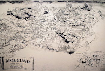 Herb Ryman sketch of Disneyland