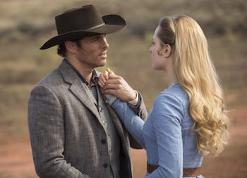 James Marsden and Evan Rachel Wood on Westworld