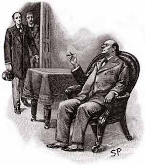 Sidney Paget illustration of Mycroft Holmes