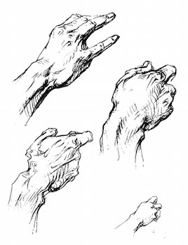 Hands by George Bridgman