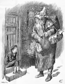 Father Christmas in Punch