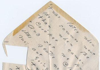Envelope poem by Emily Dickinson