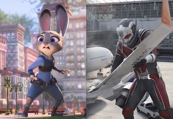Zootopia and Captain America: Civil War