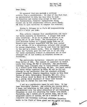 L. Ron Hubbard to John W. Campbell