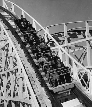 Blackpool Funfair roller coaster